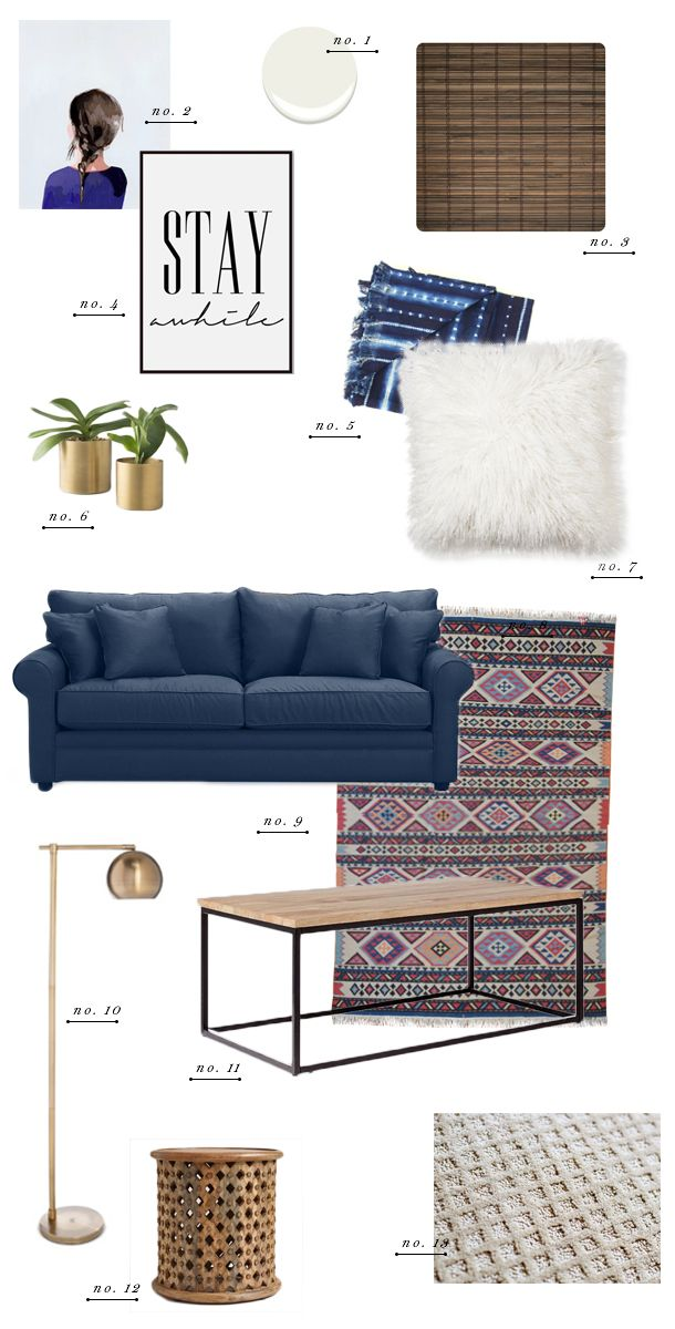 Living Room Style Update Navy Blue Sofa - Earnest Home co - 70 sofa design ideen