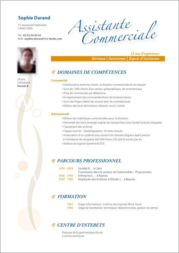 modele cv gratuit categorie c