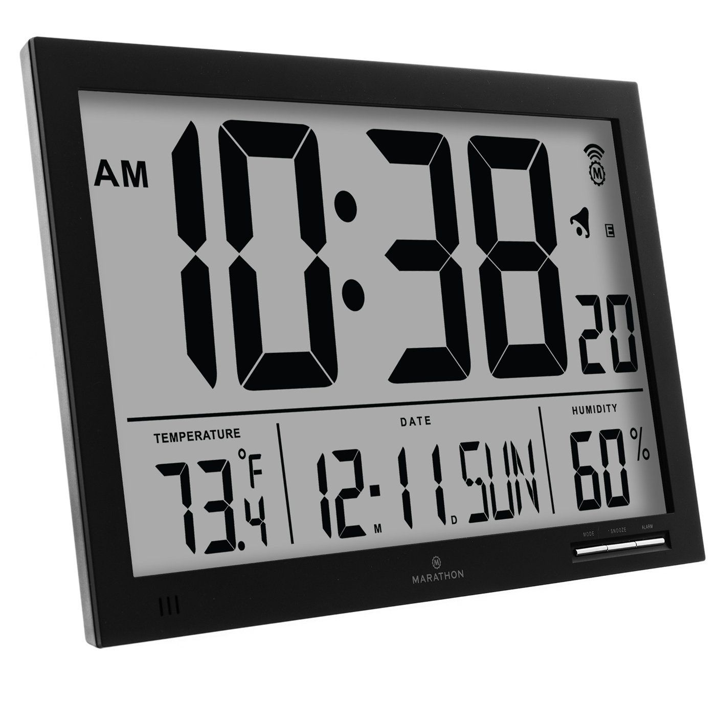 Digital Clock For Sale Marathon Cl030062bk Slim Jumbo Atomic Digital Wall Clock Black