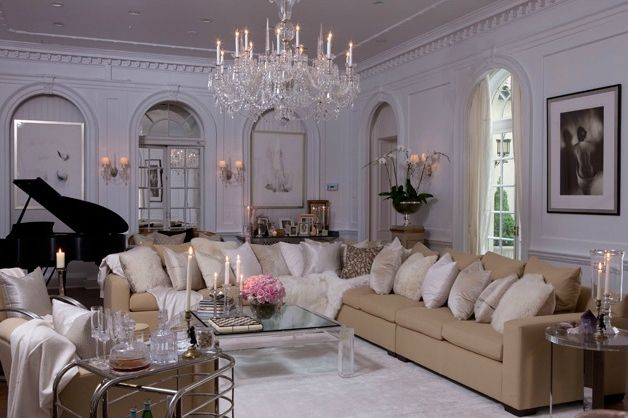 glamorous home decor Glamorous New York Apartment,luxury - new home decorating ideas