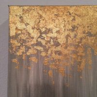 Gold leaf painting abstract gold leaf painting von ...