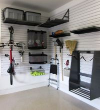 Small Garage Storage Ideas Finished With Black Furntiure ...