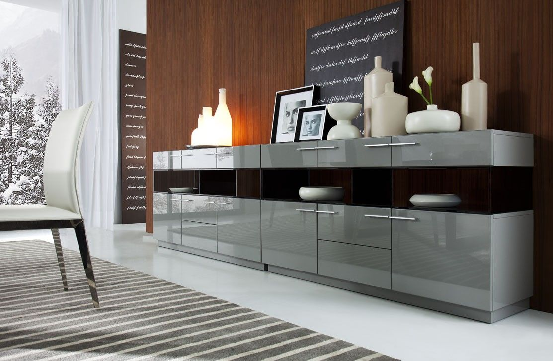 Daytona modern grey gloss buffet