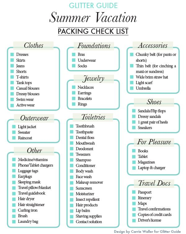 Effective Vacation Travel Checklist Ideas  NodeResumeTemplate