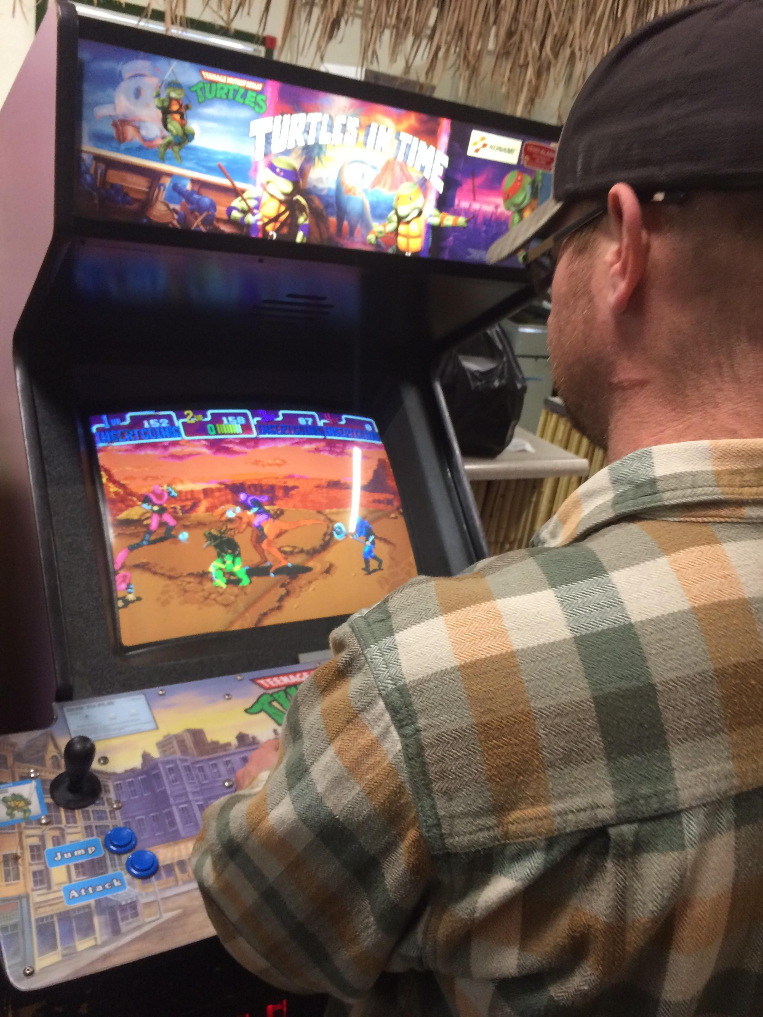 Our local cheesesteak shop has some classic arcade games set up my coworkers and i