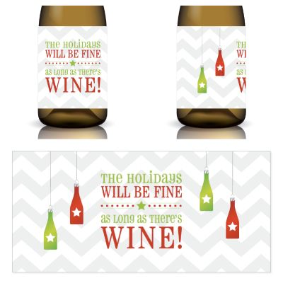 Holiday Wine Label Printable by Winos Only Perfect for the - free wine bottle label templates