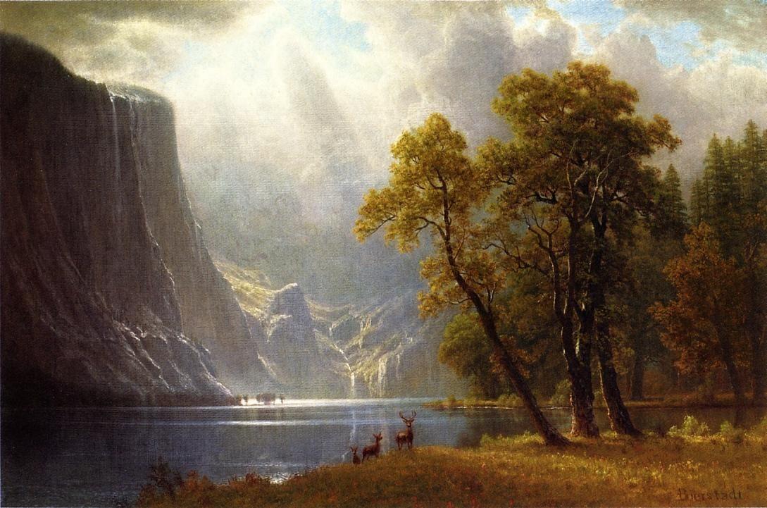 American Wallpaper Fall River Ma Yosemite Valley Albert Bierstadt My Louvre Pinterest
