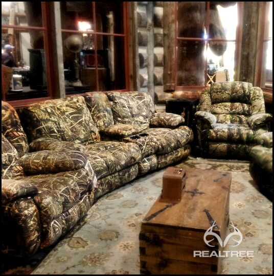 New Realtree Max-4 Camo Safa by Hunter Furniture Camo Home Decor - camo living room furniture