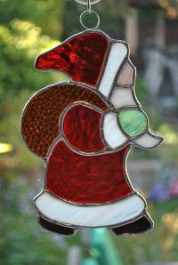 Christmas stained glass window decoration - Father ...