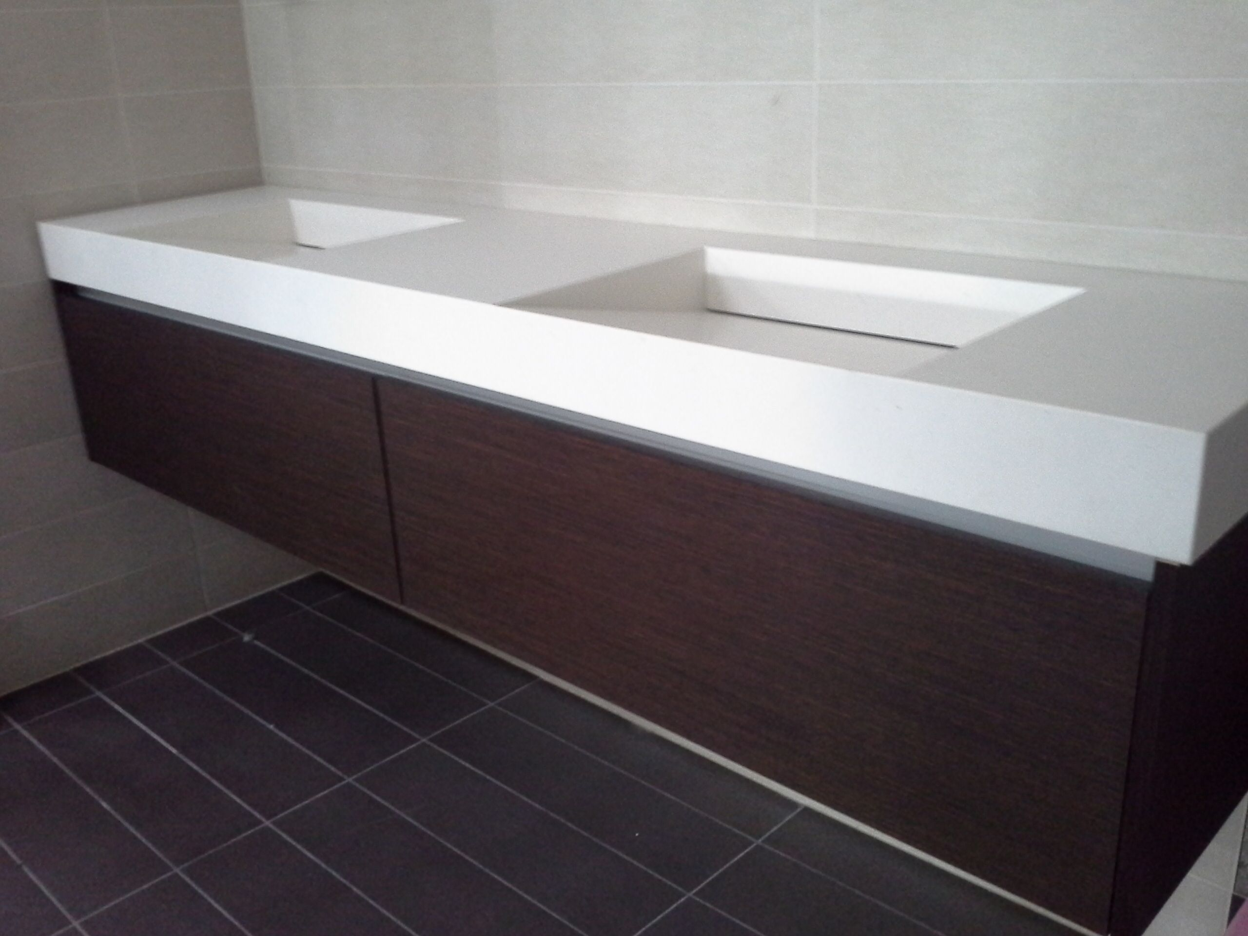 Corian Countertops With Integrated Sink Floating Vanity White Corian Top With Integrated Sinks