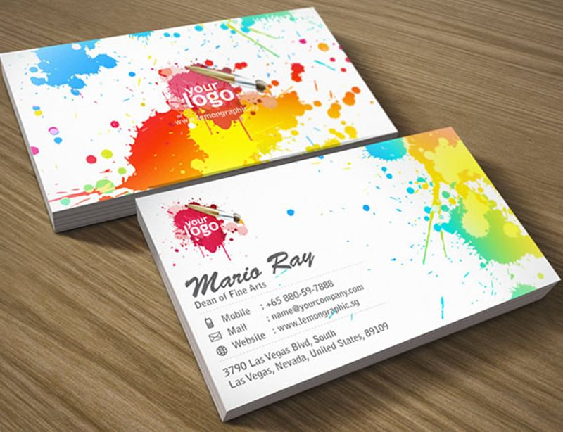 Beautiful examples of colorful business card designs u2013 Playing - name card example