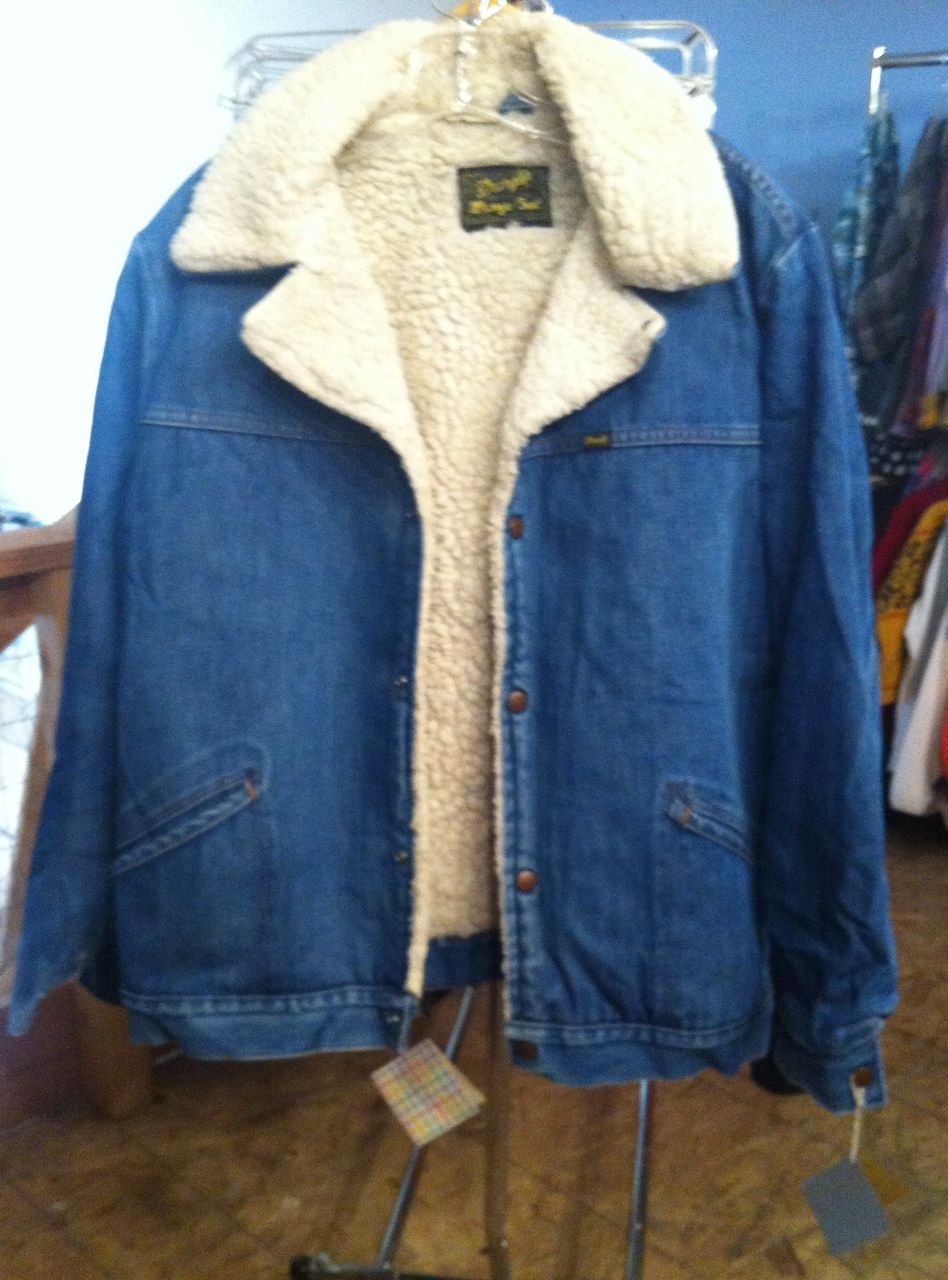 Find this pin and more on men s vintage fashion vintage wrangler wool lined denim jacket