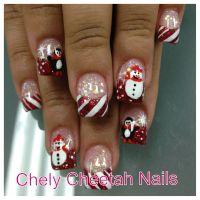 Chely Cheetah Nails. Acrylic nails. Rockstar Christmas ...