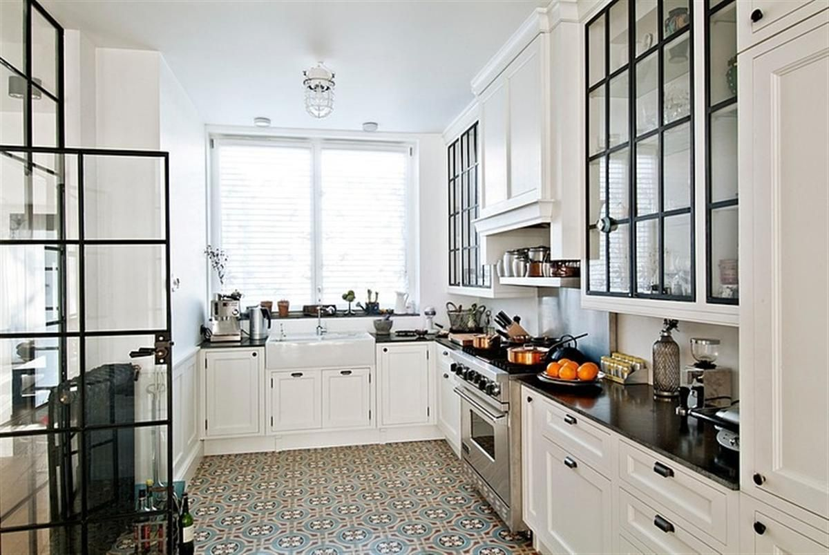 Kitchen floor tiles with white cabinets gorski home residence kitchen b