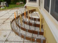 exterior steps rounded | concrete patio steps - group ...