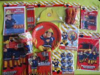 Fireman sam party - balloons/banners/loot bags/plates/cups ...