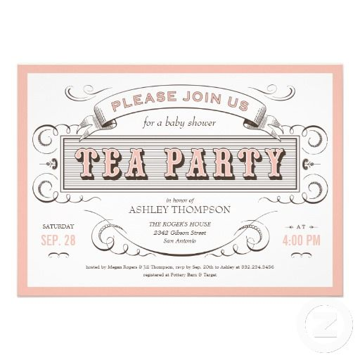 Vintage Tea Party Invitations Chá da tarde, Vintage e Modelos de - tea party invitation template
