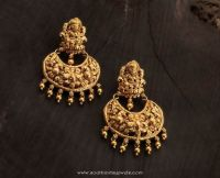 Gold Temple Earrings from Karpagam Jewellers | Earrings ...