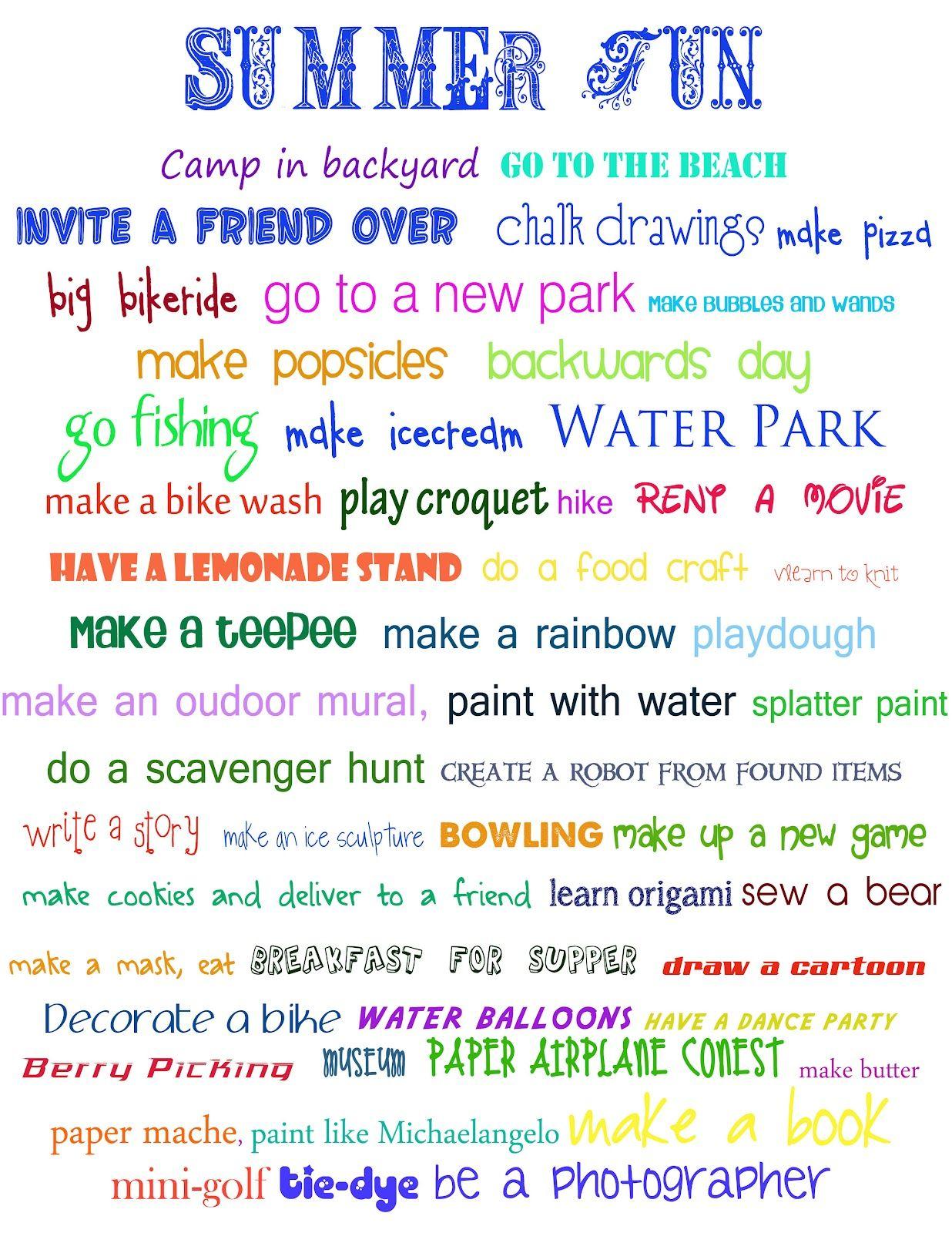 summer bucket list summer ideas and summer activities for kids the