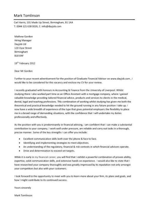 Sample Resume Cover Letter For Applying a Job - http - sample application cover letter template