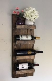 Handcrafted and high quality! Wall mounted wooden wine ...
