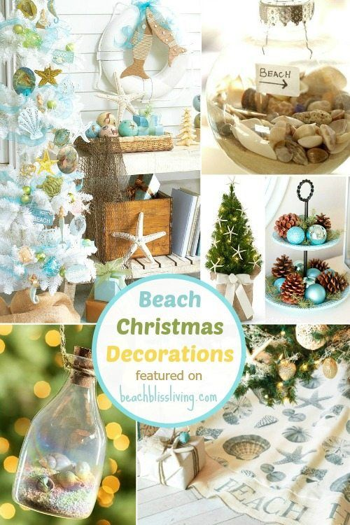 Beach Christmas Decorations \ Ideas Inspired by Sea, Sand \ Shells - coastal christmas decorations