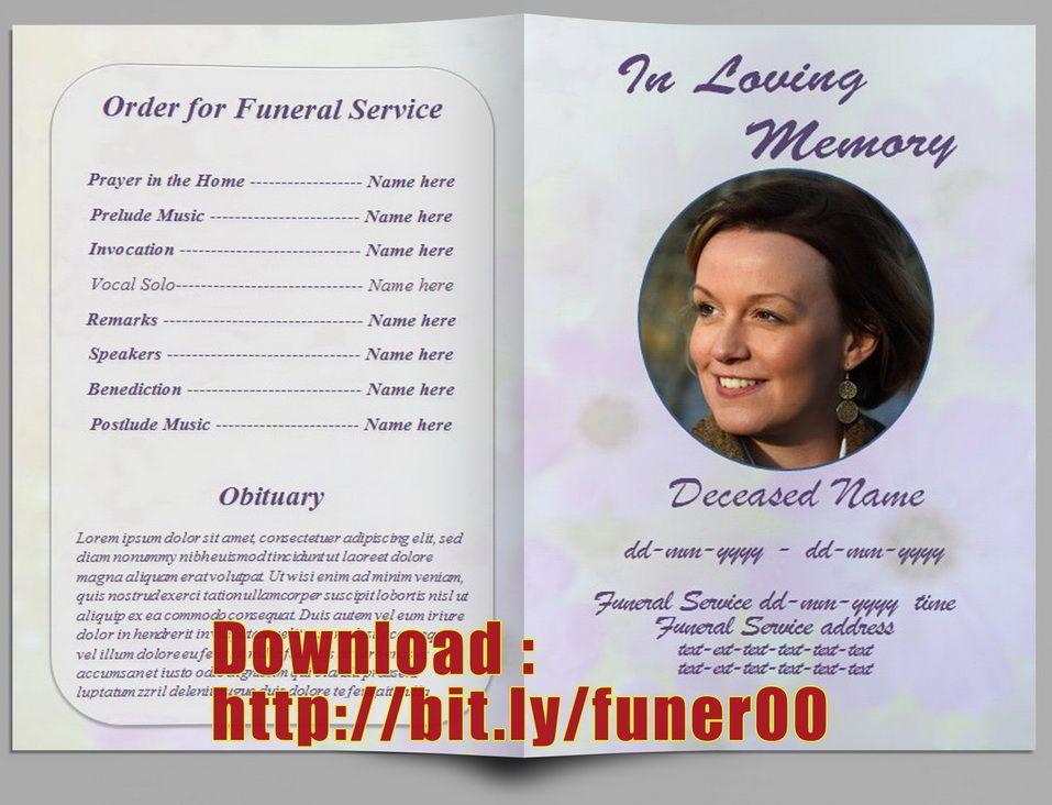 Free Editable Memorial Service Program Template http - free download funeral program template