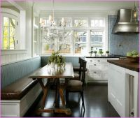 Dining Table With Bench Against Wall   Long tables and ...