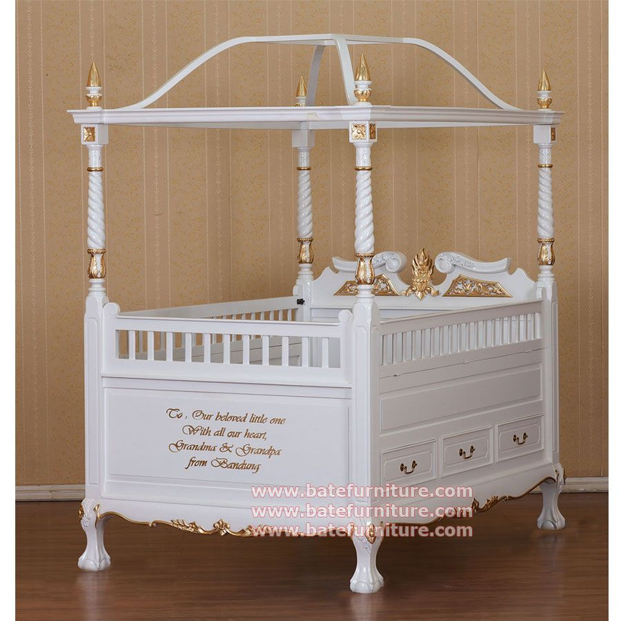 Canopy crib canopy baby crib for your baby this white gold mahogany canopy