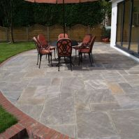 Remarkable Natural Patio Stone Pavers from Charcoal Grey ...