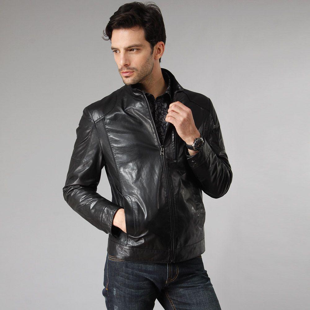Fashion new men s genuine leather jacket
