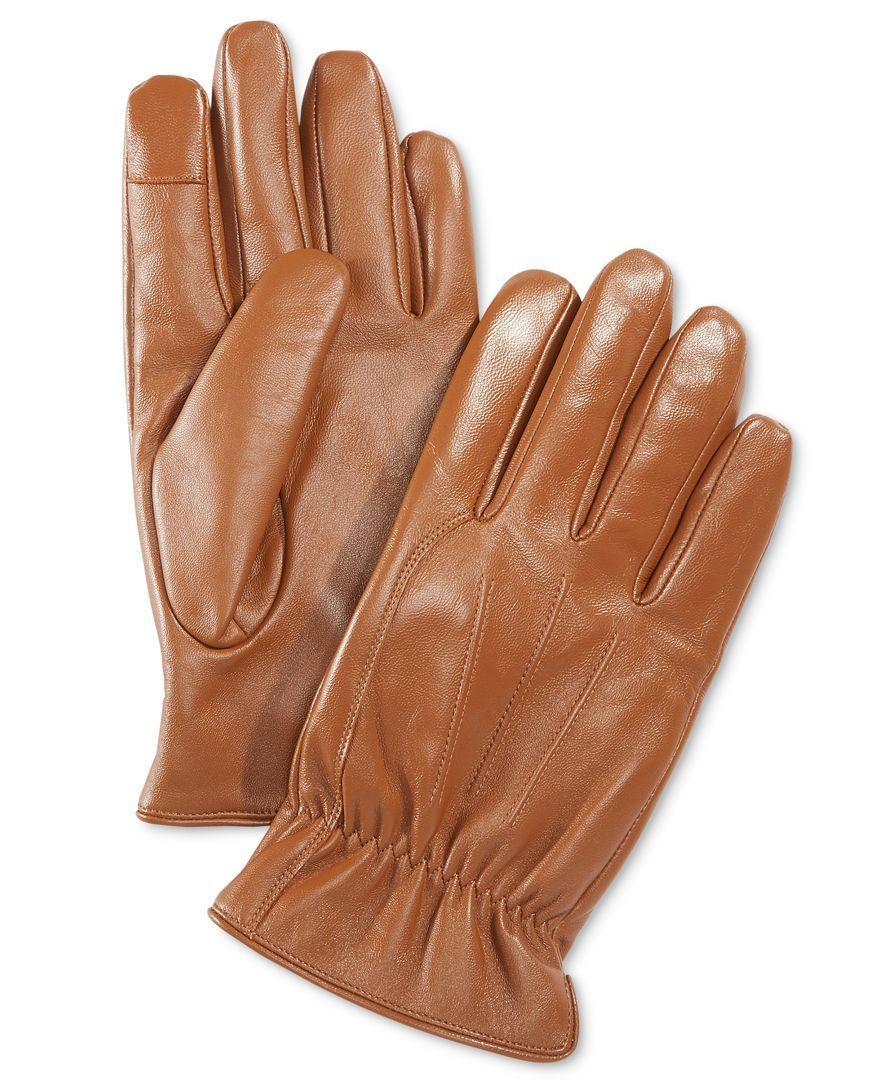 Ryan seacrest distinction men s leather gloves only at macy s