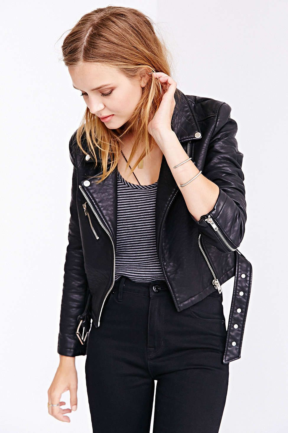 Members only pebbled vegan leather jacket urban outfitters