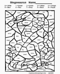 Free Printable Multiplication Color By Number Worksheets ...