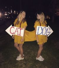 Our CatDog costume! | Halloween | Pinterest | Costumes and ...