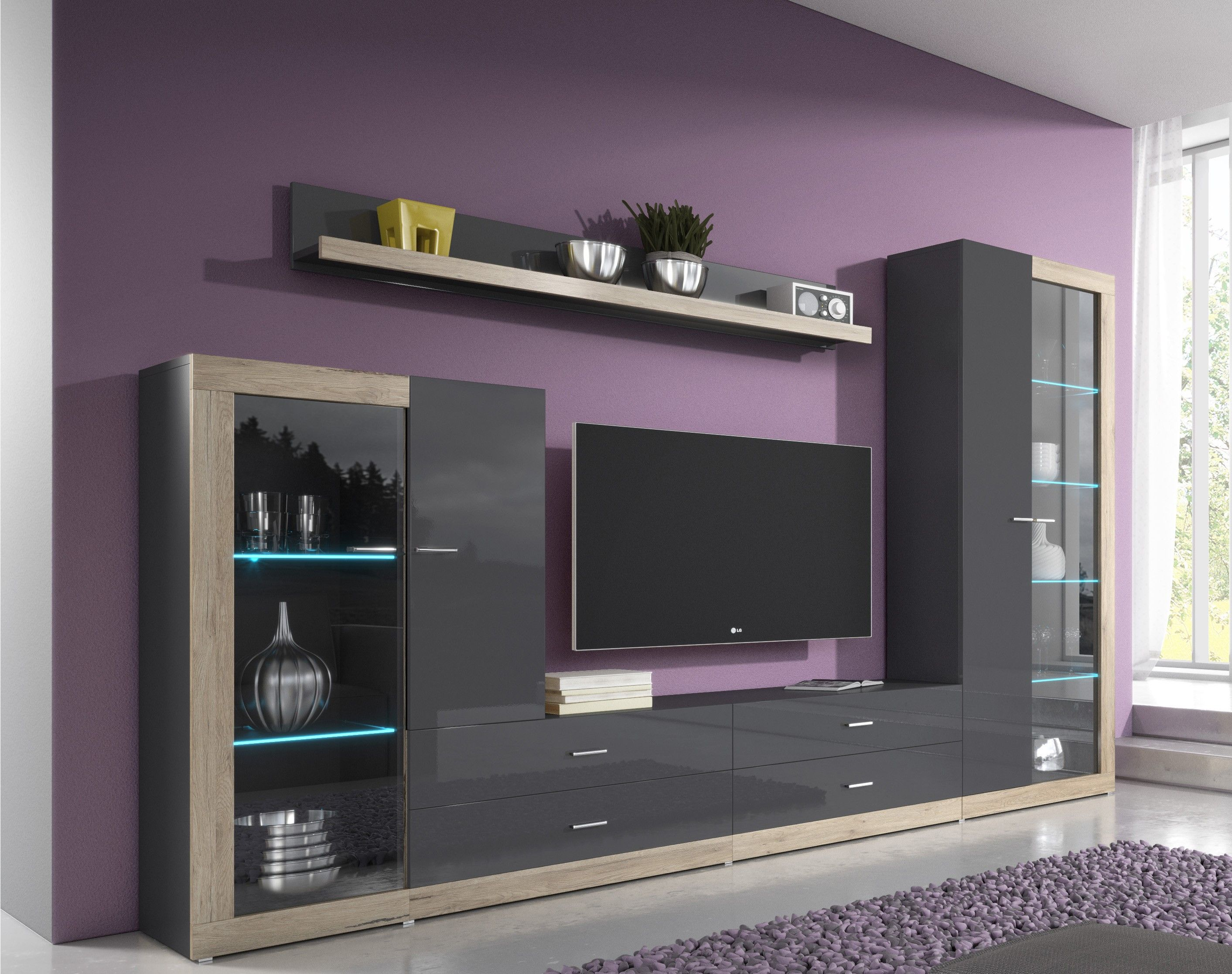 Wall Unit Modern Wall Unit Tessa 1 Living Room Wall Units Modern Wall