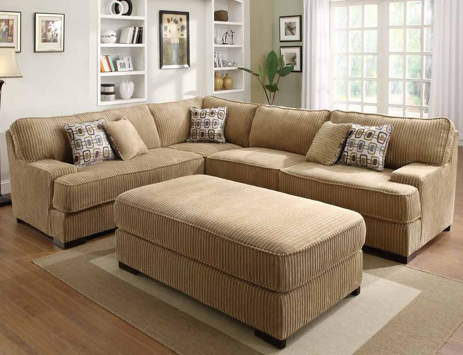 Corduroy Sectional -- sleeper section No chaise allows for - oversized living room sets