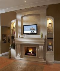 fireplace mantels with tv above | ... Contemporary Living ...