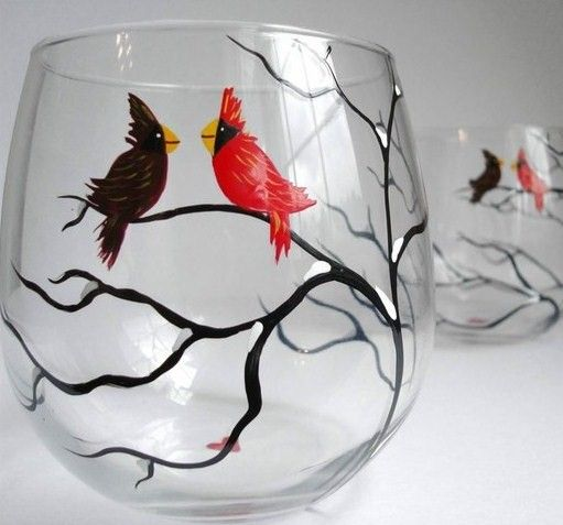 1000+ Images About Glass Painting On Pinterest | Glasses, Wine