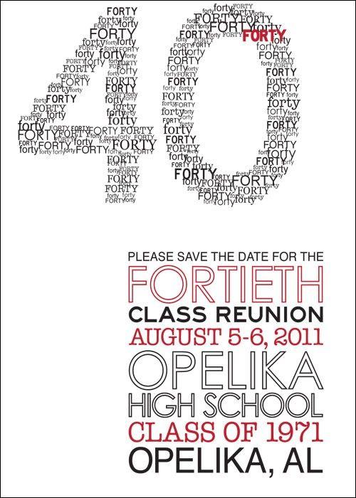 Modern Class Reunion Invitation by herringdesignco on Etsy, $2500 - class reunion invitation template