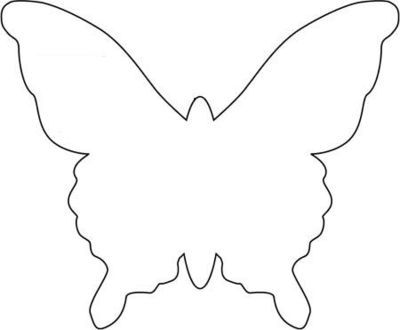 Butterfly template Templates, zentangles \ printables 1 - butterfly template