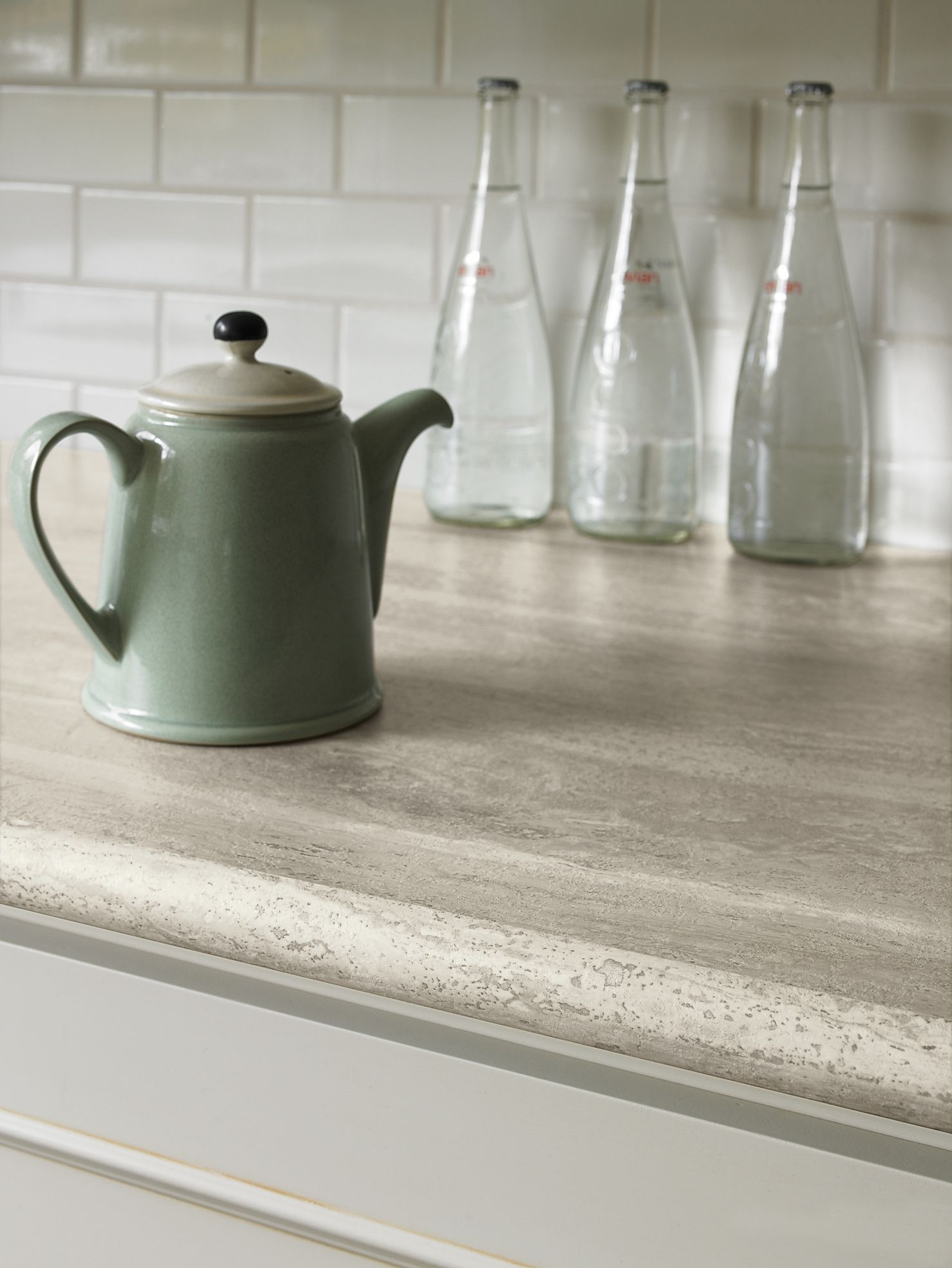 formica kitchen countertops Formica Travertine Silver Kitchen Countertop A more affordable product than stone looks