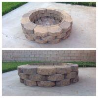 DIY fire pit. 36 retaining wall bricks (Home Depot ...