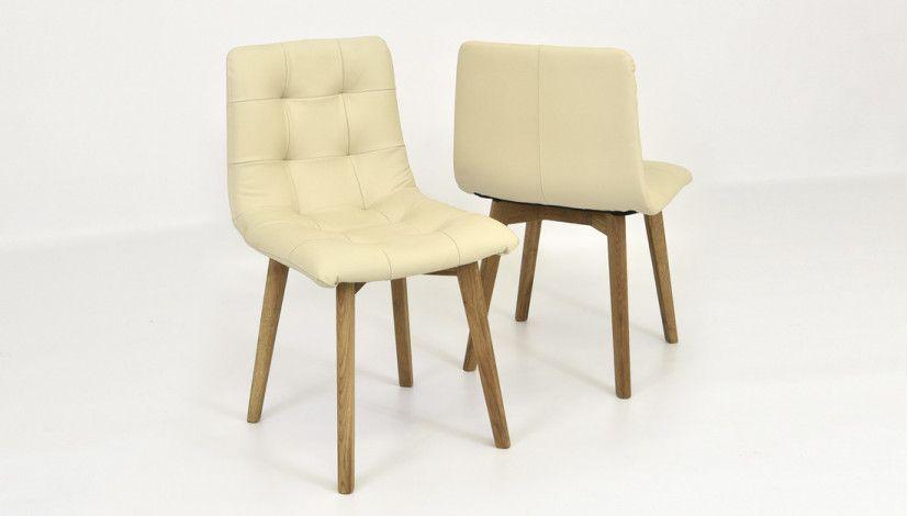 Dubová židle Kožená Krémová Nábytok Pinterest   Arte M Esszimmerstuhl