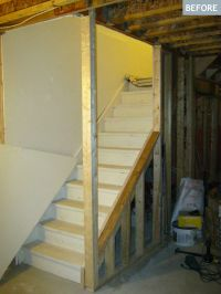 AM Dolce Vita: Basement stairs DIY to open them up ...