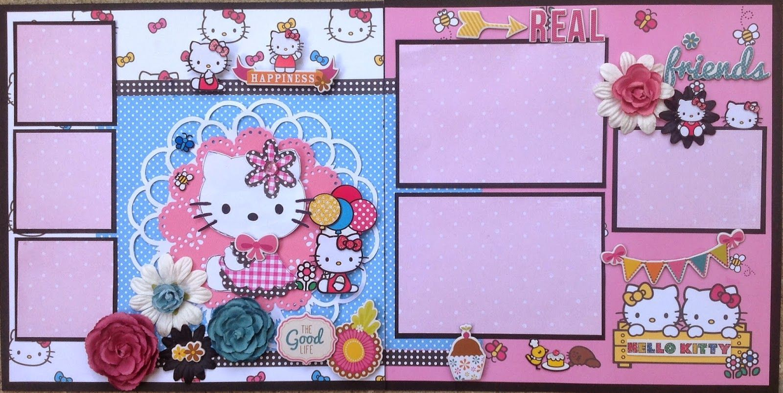 Amazing grace hello kitty baby scrapbookscrapbook layoutsamazing