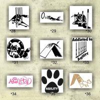 Border Collie vinyl decals - collie dog stickers - herding ...