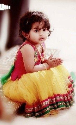 Cute Stylish Small Girl Wallpaper Cute Little In Langa Jaket Ethnic Wear For Kids