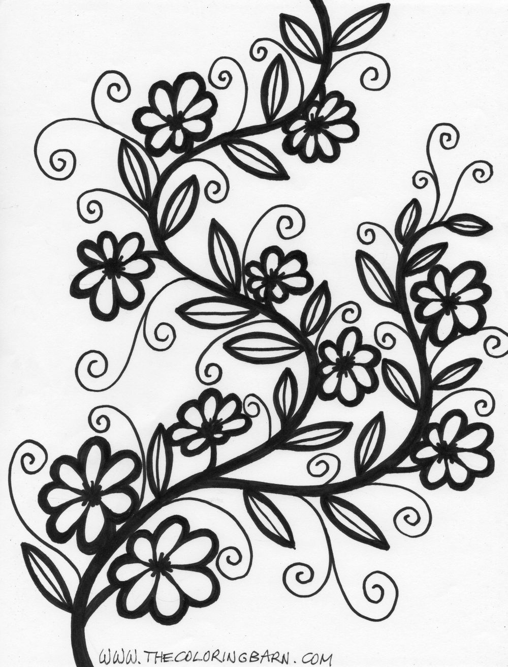 Flower coloring pages for adults more flower coloring pages coloring barn coloring pages you will