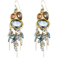Alexis Bittar Gold Large Smoky Quartz Chandelier Earrings ...